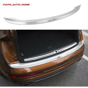 Fit Audi Q7 2016-2019 Stainless Steel Rear Door Plate Bumper Cover Bar Sill Trim