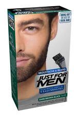 JUST FOR MEN BRUSH IN BEARD NATURAL DARK BROWN BLACK Gel Colour Dye - 1 PACK