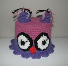 Handmade Toilet Paper Roll Cover Crochet OWL bathroom decoration purple new