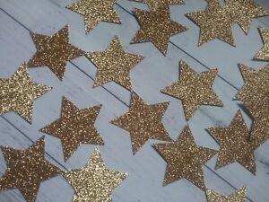 Star Confetti- Twinkle Little Star Gold Glitter Confetti Large Stars baby shower