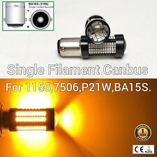 Backup Reverse Tail Light 1156 BA15S 7506 3497 P21W 108 Amber SMD LED Bulb M1 M