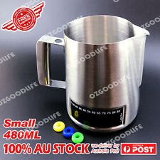 Latte Stainless Steel Pro Milk Frothing Pitcher Jug with Integrated Thermometer