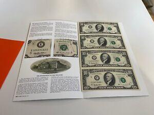 "Uncut sheet of 4 - Ten Dollars US bills series 1995 ""Star Note"""