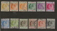 CYPRUS  SG 60/70  1904/10 WATERMARK MULTIPLE CROWN CA SET TO 18pi   GOOD/FINE