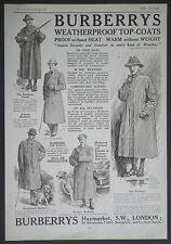 Burberrys Haymarket London Society Top-Coats 1912 Advertisement Ad 9222