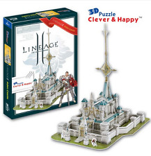 3D puzzle DIY toy paper building model assemble hand work Lineage 2 Aden Castle