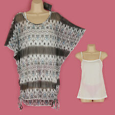 BNWT GLAM GORGEOUS SHIMMER BLUE, WHITE & BLACK BATWING PARTY TOP SIZE LARGE