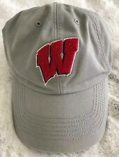 """Ncaa Wisconsin Badgers Medium Franchise """"Perfect Fit� Gray Hat Cap '47 Brand"""