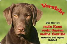 LABRADOR - A4 Metall Warnschild Hundeschild Alu SCHILD Türschild - LAB 25 T1 BRA