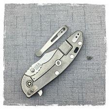 "Custom Made Titanium Deep Carry Clip for Rick Hinderer Knives XM-18 3.5"""