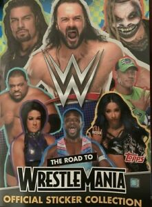 TOPPS ROAD TO WRESTLEMANIA WWE STICKER COLLECTION NUMBERS 1 - 158