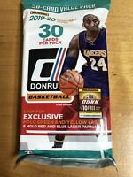 """2019-20 DONRUSS BASKETBALL - """"FAT PACK/CELLO""""- HALO GREEN & YELLOW LASERS - ZION"""