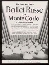 1943 Ballet Russe de Monte Carlo photo Usa tour trade booking ad