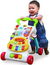 Kid Baby Walker Push Activity Prewalker First Steps Toy Trolley With Music