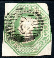 1847 Sg 54 1s pale green Embossed Issue 3 Margins
