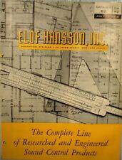 ELOF HANSSON Hansonite Catalog ASBESTOS Sound Control 1962
