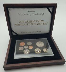 Limited Edition Queen's New Portrait Specimen 2015 Nine Coins Set - Boxed & COA