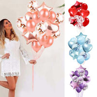 14pcs Wedding Balloons Latex Foil Ballons Decor Kids Baby Birthday Party