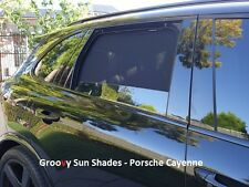 Groovy Car Sun Shades PORSCHE CAYENNE MACAN. 4-PCS Rear Door Windows Mesh.