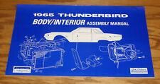 1965 Ford Thunderbird Body & Interior Assembly Manual 65