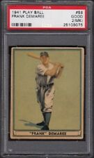 1941 Frank DeMaree Play Ball Baseball Card #58 Graded PSA 2 Good (MK)
