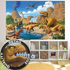 Fototapete Dinosaurier Kinderzimmer Comic Abenteuer Tapete Deko 210 x 140 cm