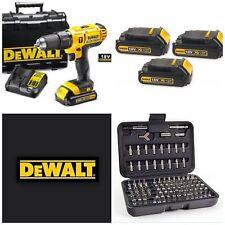 DEWALT 18V Cordless Lxt COMBI DRILL X3 LITIO batterys