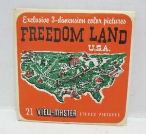 FREEDOMLAND USA VIEW-MASTER PACKET A 661 VINTAGE 3 REEL SET SOUVENIR U.S.A. NYC
