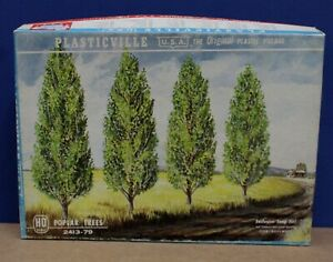 Plasticville 2413 O Poplar Trees Kit NM Boxed Most Parts still on trees 1960