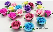 Polymer Mixed Flowers - x  18pc
