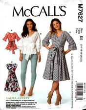 McCalls Sewing Pattern 7627 M7627 Misses Wrap Tops and Dress Size 14-22 NEW