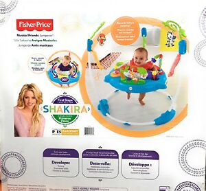 Fisher Price Infant Baby First Steps Collection Jungle Musical Friends Jumperoo