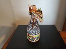 "Jim Shore Angel Figurine Peace #4005272 Heartwood Creek 2006 No Box 5"" With Dove"