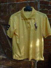 - RALPH LAUREN BIG PONT para Hombre Camisa Polo De Color Amarillo Talla L Grande Pro Fit