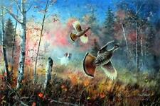 "Quick Escape By Jim Hansel Grouse Print Large 28"" x 19"""