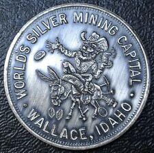 1958 WORLD'S SILVER MINING-Wallace-SILVER JUBILEE Coeur D'Alene-SO-CALLED DOLLAR