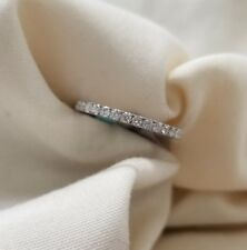 18k white gold eternity band .62.5ct tw  size 6.5