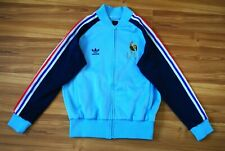 ADIDAS FRANCE TRACK JACKET 1982 WORLD CUP FOOTBALL SOCCER SIZE MEDIUM RARE MINT