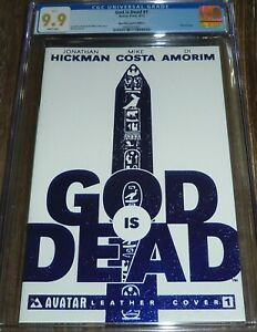 God is Dead #1 CGC 9.9 Avatar Press Comics White Leather Blue Foil Variant