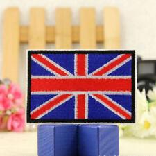 2x drapeau UK brodé fer/coudre sur patch Royaume-Uni badge transf IY BB