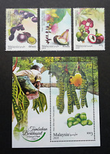 Malaysia Medicinal Plants IV 2018 Fruits Food Vegetables Flower (ms + stamp) MNH