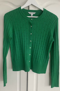 LK Bennett Wool Jewel Green Cable Cardigan Small RRP £150 99p!!