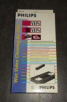 Philips VHS S-VHS VCR (Nass-)Reinigungskassette Videorecorder in OVP ->NEUWERTIG