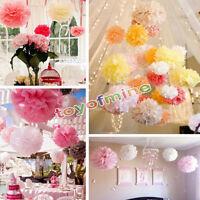 12 pouces Fleur Pompon En Papier Boule De Fleurs De Soie Décoration De Mariage