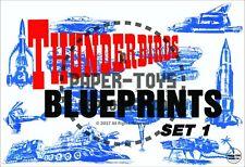 Vintage Reprint - 1960S - Thunderbirds Blueprints - Reproduction