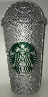 Custom Bling Tumbler Cup 16oz Starbucks Clear Rhinestone Personalize Option