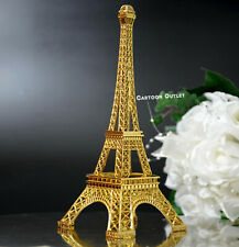 "GOLD 10"" EIFFEL TOWER METAL STATUE PARIS DECOR WEDDING QUINCEANERA SUPPLIES GIFT"