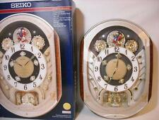 NICE! SEIKO 2007 COLLECTOR MELODIES IN MOTION SWAROVSKI CRYSTAL WALL CLOCK XMAS