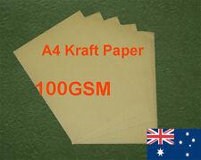 450 X A4 Kraft Paper Brown 100GSM All Wood Pulp Made