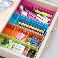 Adjustable New Drawer Organizer Home Kitchen Board Divider Makeup Storage Box BH